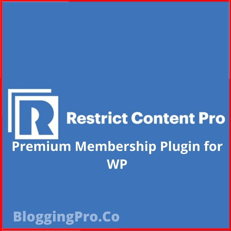Restrict Content Pro Wordpress Plugin