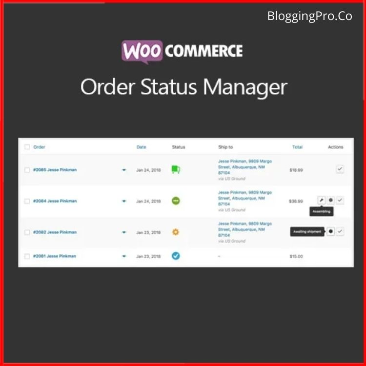 WooCommerce Order Status Manager